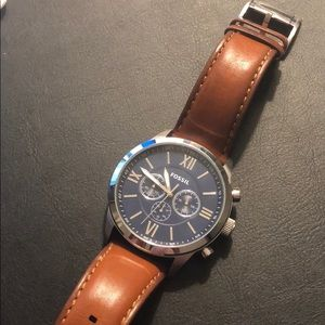 Fossil Men's Flynn Chronograph Brown Leather Watch